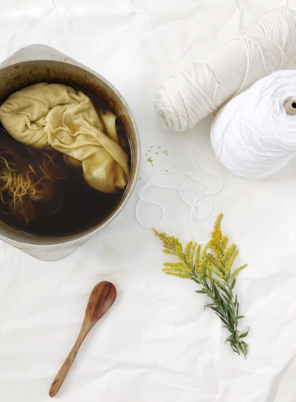 Golden Hues : Natural Dying with Foraged Golden Rod.